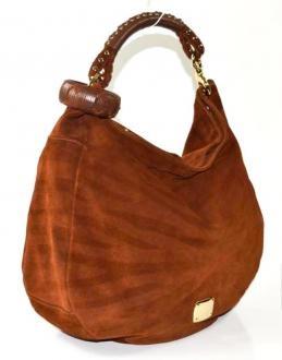 Jimmy Choo Brown Suede Sky Large Hobo Handbag