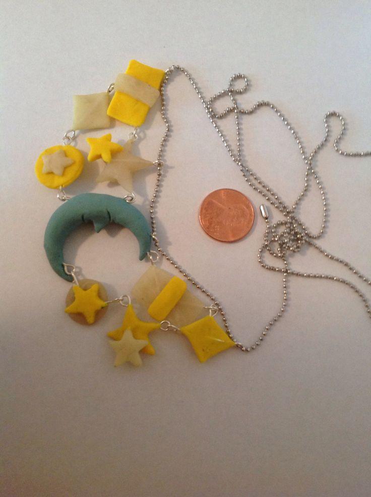 Starry night necklace! Owlsminis on etsy