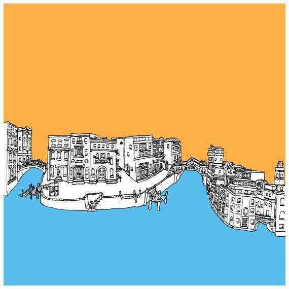 Fragment of Venice - Digital Print / Wall Art / Illustration