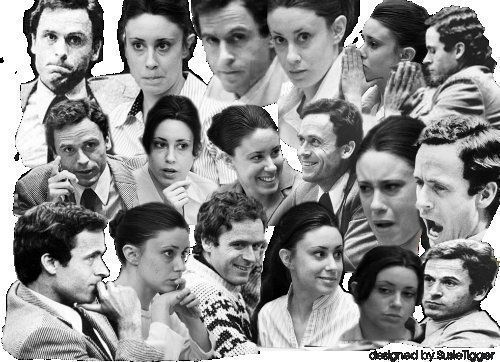 Casey Anthony & Ted Bundy similar facial expresions.