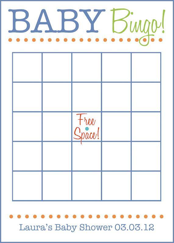 Free Printable Blank Bingo Cards For Baby Shower : printable, blank, bingo, cards, shower, Sedgwick:, Shower, Invites:, Alphabet, Theme, Bingo,, Event,