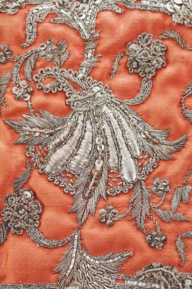 Silver embroidery