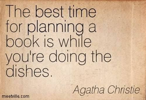 Writing tip from Agatha Christie!