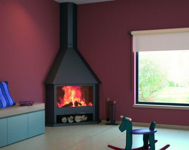 M s de 1000 ideas sobre chimeneas de esquina en pinterest - Como disenar una chimenea de lena ...