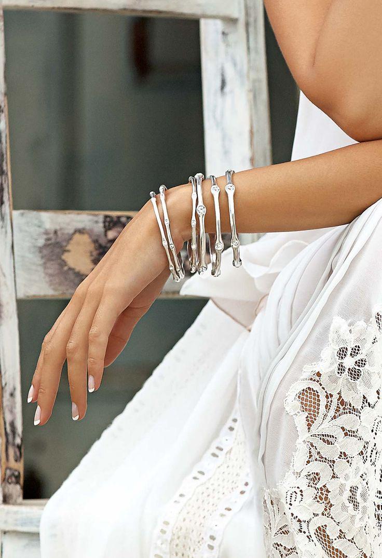 #migliostyle - layered #Miglio #bangles embellished with #Swarovski crystals - www.miglio.com
