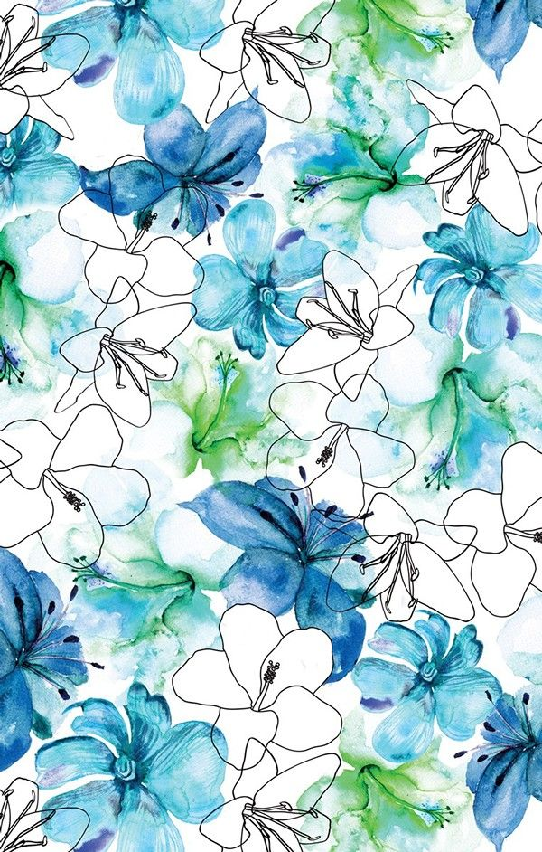 25 best ideas about blue flower wallpaper on pinterest