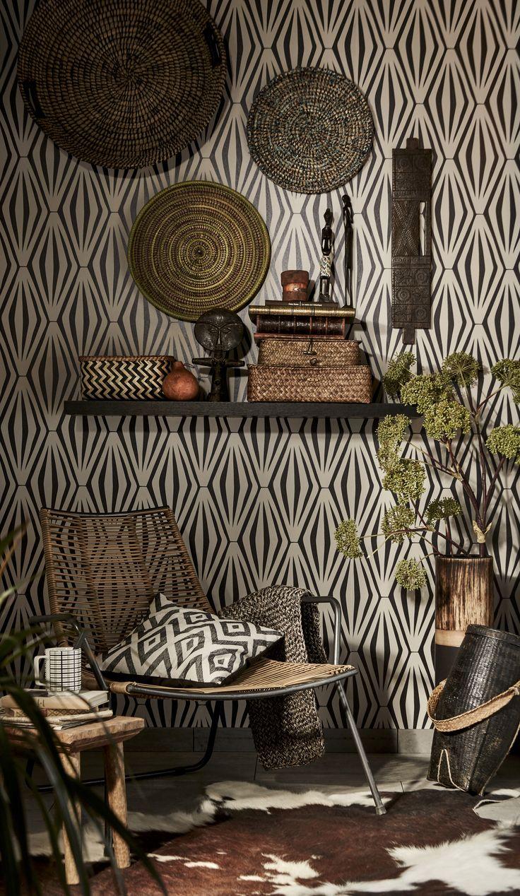 Une décoration marquée par la tendance Afrique Revisitée ! Mixez les matières…