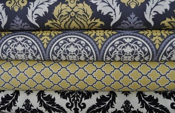 Fabric!Colors Combos, Kitchens Curtains, Pin Today, Living Room, Grey Yellow, Bonus Room, Master Bedrooms, Fabrics, Gray Yellow