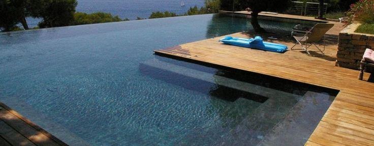 Piscine piscine pinterest - Piscine demi enterree ...