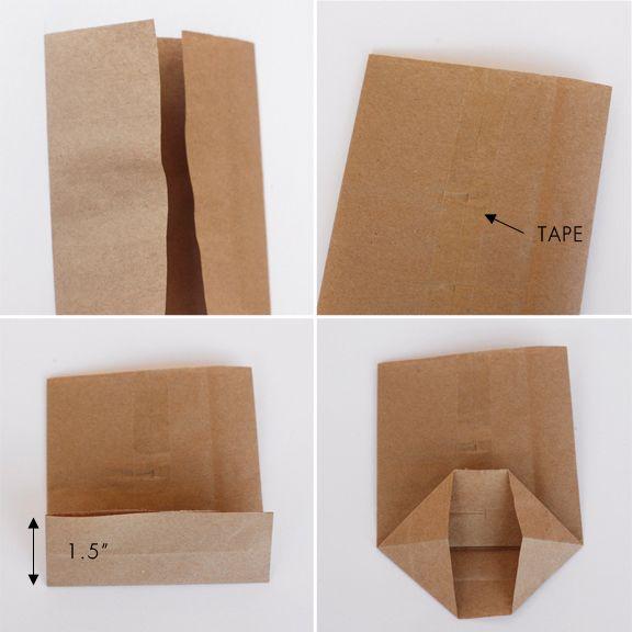 DIY Mini Paper Sacks (from Large Paper Sacks!) | Lavender's Blue Designs