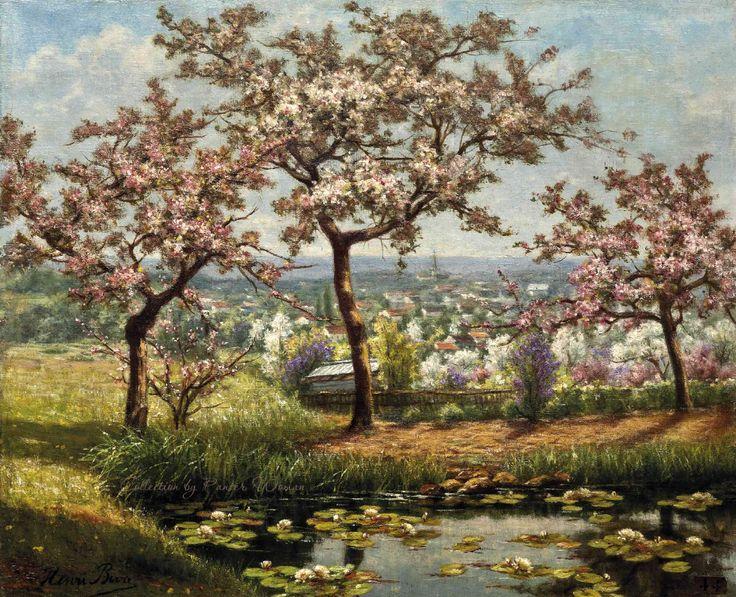 Французский художник Henri Biva
