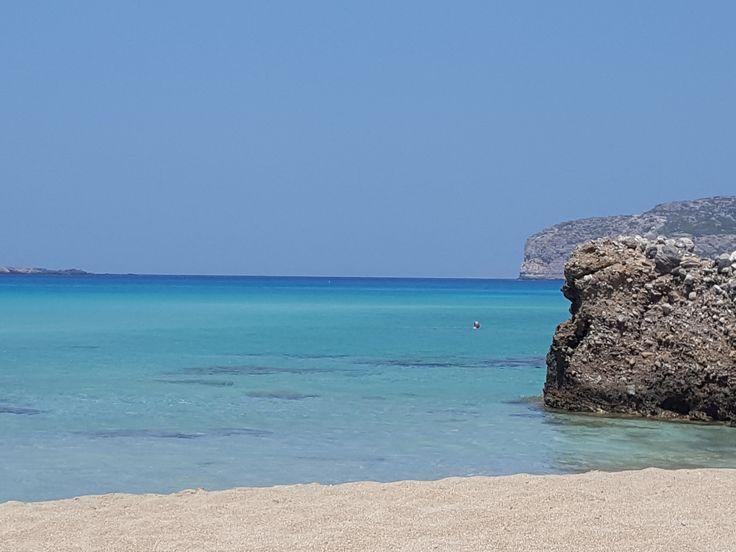 Falassarna - Crete - the beach between the rocks #trivo