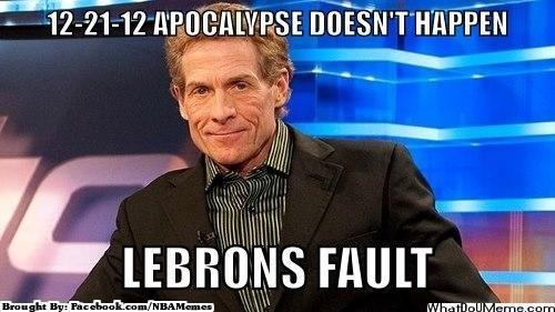 It's always King James' fault! Credit: Joel L Sierra  http://whatdoumeme.com/mem…