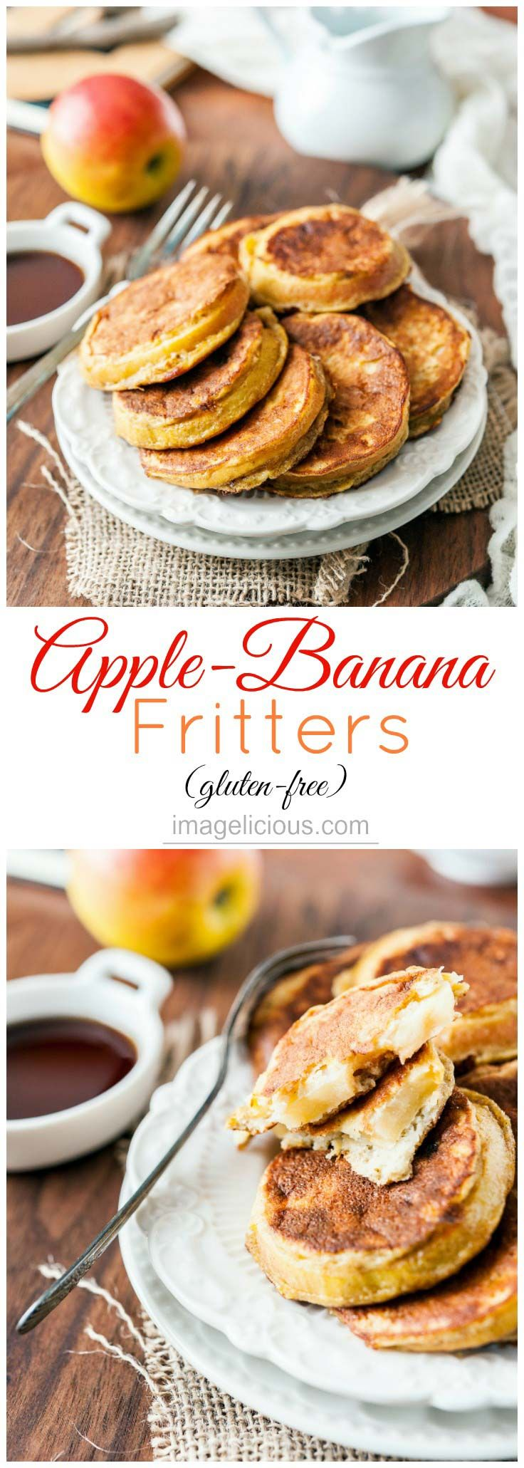 Apple Banana Fritters taste like dessert but are perfect for a healthy breakfast. They are gluten-free, easy to make and have only a handful of ingredients   Imagelicious