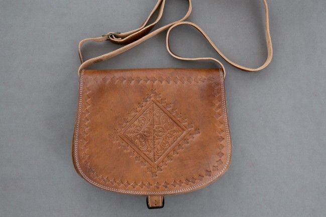 Engraved Messenger Bag - Chocolate Brown