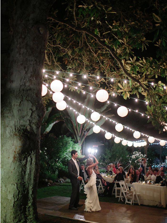 Market Lighting from the beautiful Magnoloa Tree on the Gazebo Lawn. Kelly + Tim // San Diego Botanic Gardens Wedding » Orange County Husband and Wife Film Wedding Photographers
