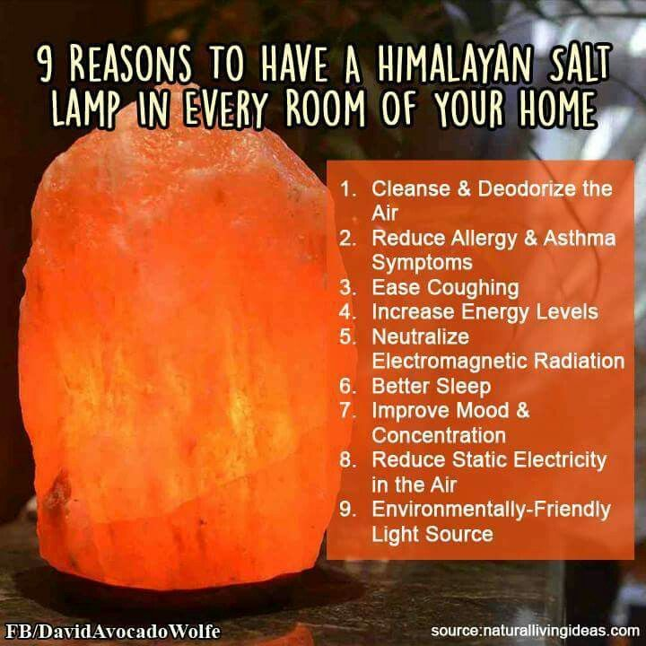 9 reasons to have a Himalayan Salt Lamp in every room in your home.                                                                                                                                                     More
