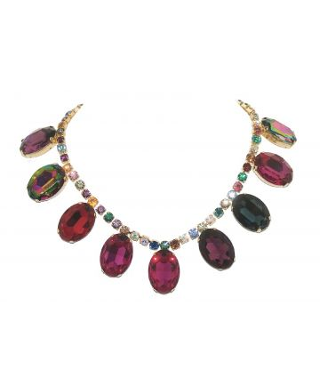 ❤️ $875 Tom Binns Giant Multi-Colored Gem Necklace - Fashion - Jewelry
