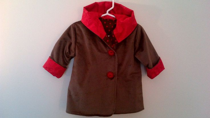 Child's Brown Car Coat 6 months C125/15 by zoya49 on Etsy