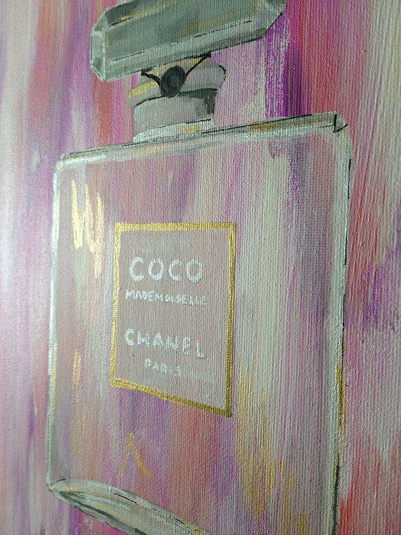 COCO Chanel Art Perfume Bottle Painting Chanel by TracyHallArt