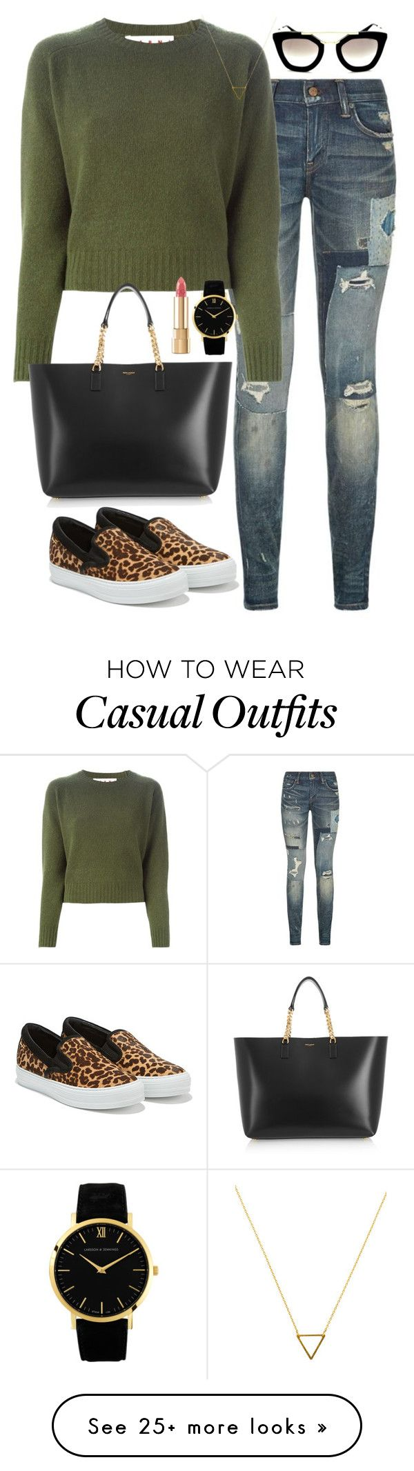 """Casual girl"" by miiaemiliaa on Polyvore featuring Polo Ralph Lauren, Marni, Salvatore Ferragamo, Yves Saint Laurent, Dolce&Gabbana, Larsson & Jennings, Wanderlust + Co and Prada"