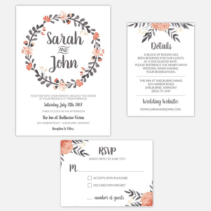 Printable Wedding Invitation Suite / Floral / Boho Chic / Vintage by MariaDdesigns on Etsy https://www.etsy.com/listing/271496140/printable-wedding-invitation-suite. #weddinginvitation #mariaddesigns #bohochic #floralinvite #vintage #weddingsuite #diy #printable #rusticwedding #design
