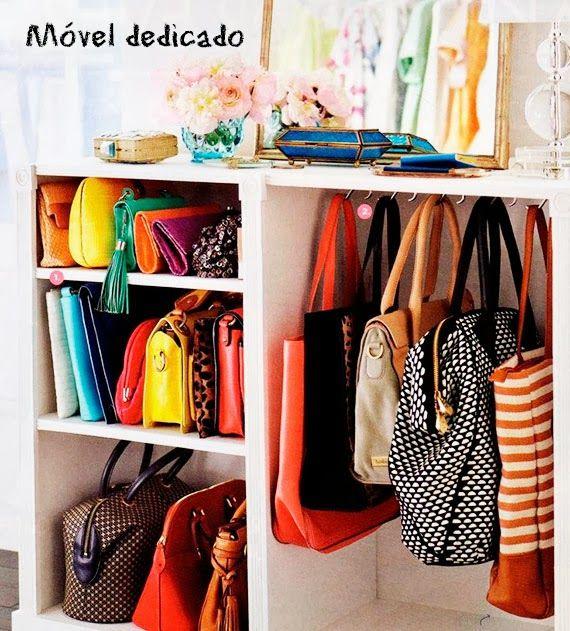 Ideias para organizar sapatos e bolsas - dcoracao.com - blog de decoração e tutorial diy