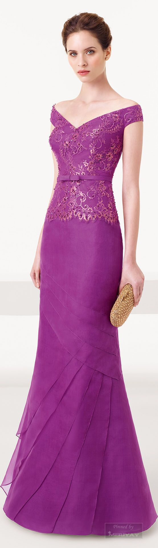 Aire Barcelona Evening Gown, Violet, 2015.