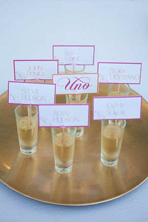 not sure if we're doing a seating plan for a long table but this is fun.   Shot as escort card