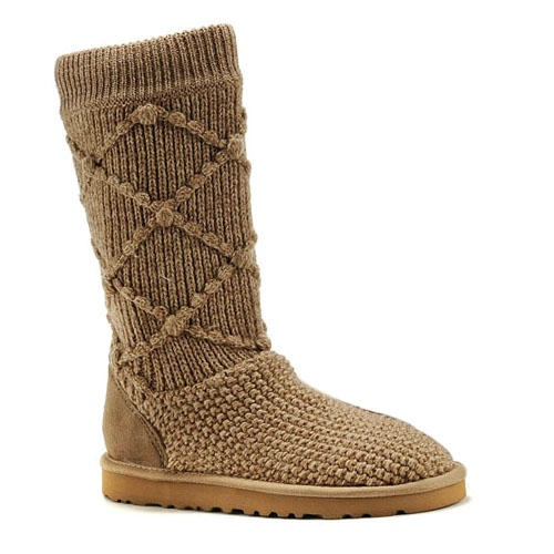 Classic Argyle Knit Ugg Boots Tawny Brown $62.99 Save: 66% off