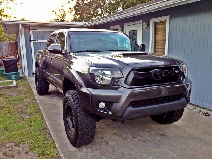 Blacked Out Headlights Color Grill Black Rims Trd