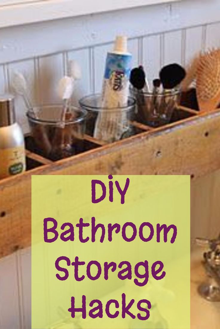 DIY Bathroom Storage and Organization Hacks