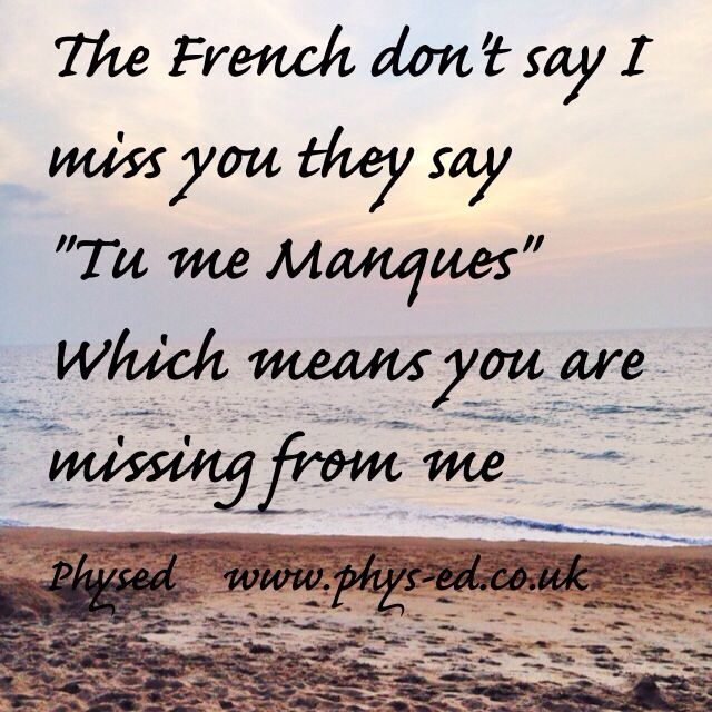 I Miss You Spanish Quotes: You Are Missing From Me …. They Say If You Don't Think