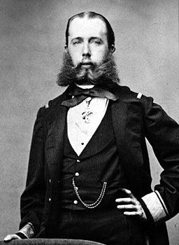 Real History. Emperor Maximilian I of Mexico (reign1863-1867)/ Prince Ferdinand Maximilian Joseph of Austria (b. 1832 - d. 1867). Invited by the Mexican nobility to take the Mexican Imperial Crown during the 2nd French Intervention, as a master plan by France's Napoleon III to establish a puppet state while the United States was embroiled in a Civil War. Reality is more interesting than fantasy, folks.