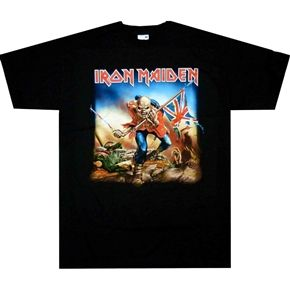 Official Iron Maiden shirt featuring The Trooper design.