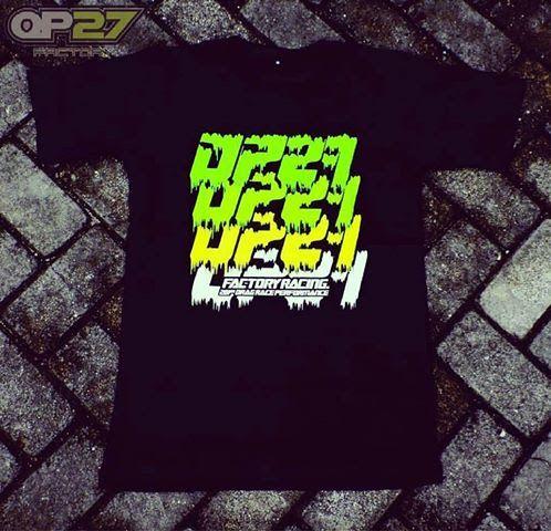 T-shirt OP27 Factory Racing TOP27-022 Black  087845622777 (WA, SMS, & Telp) / D17560D1 (BBM) / op27factory (LINE)
