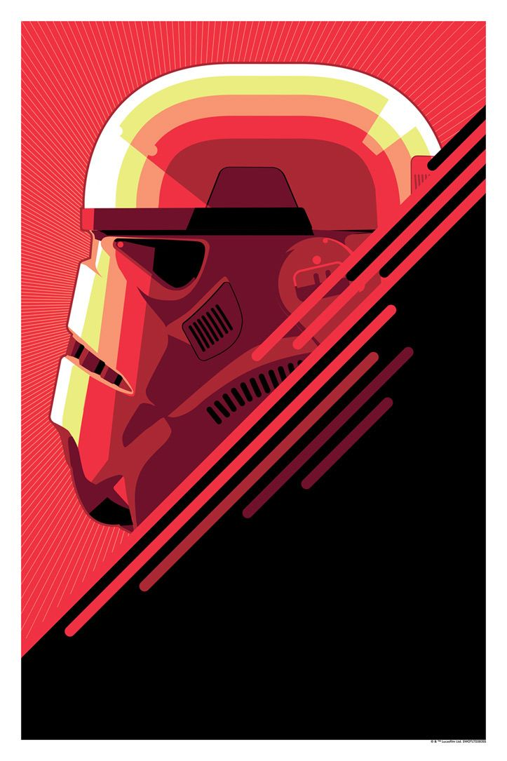 The Bounty Hunter & The Stormtrooper by Craig Drake / Facebook 18″ X 27″ 6 color screen print, numbered edition of 250. Available HERE. Also on sale at the Star Wars Celebration Event, Booth #1724.