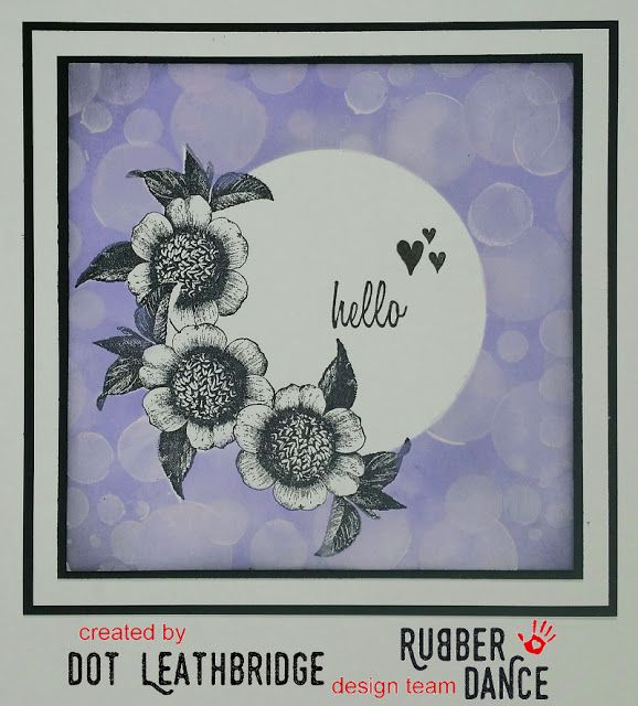 * Rubber Dance Blog *: Tutorial Tuesday - Tutorial using the Bokeh Effect Greeting card