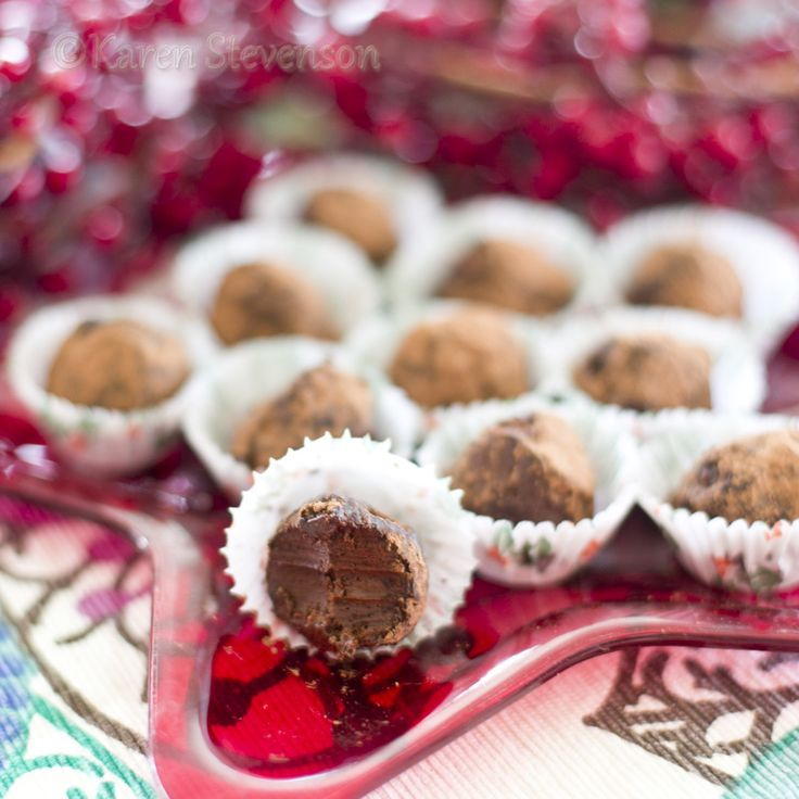 Dairy free, rich Chocolate Truffles.  Perfect for Christmas treats, or any time of the year!  You can make these plain, peppermint or orange flavoured.  So good! http://www.foodgloriousfriendlyfood.com/1/post/2012/12/chocolate-truffles.html