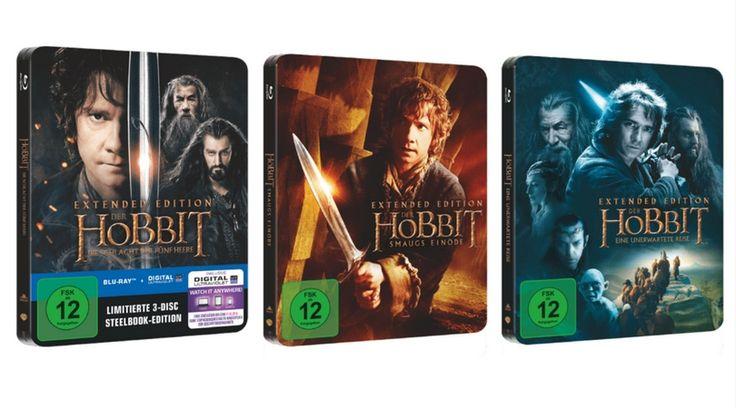 [Angebot] Der Hobbit 1-3 (extended) jeweils im Steelbook (Blu-ray) für 10