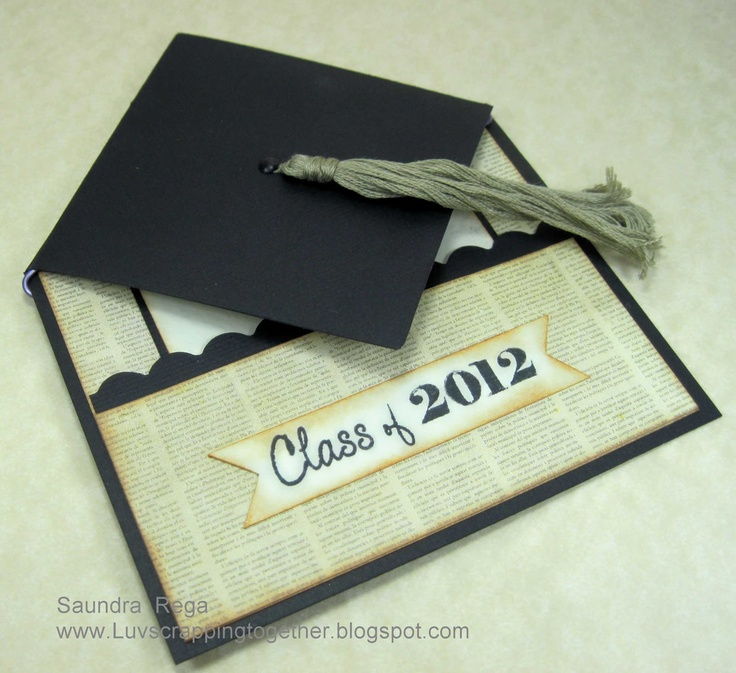 Card Making Ideas For Kindergarten Part - 46: Graduation Card Closed...luv The Fold...perfect For Any Grad. Graduation  DiyKindergarten ...