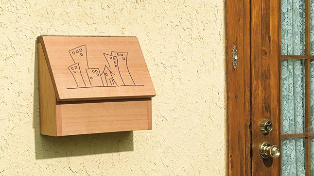 Boîte à lettres à thématique urbaine