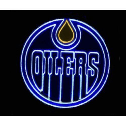 "NHL EDMONTON OILERS BEER BAR CLUB NEON LIGHT SIGN (16"" X 16"") - Free Shipping Worldwide - Lee Neon Signs Online Store - Free Shipping Worldwide"