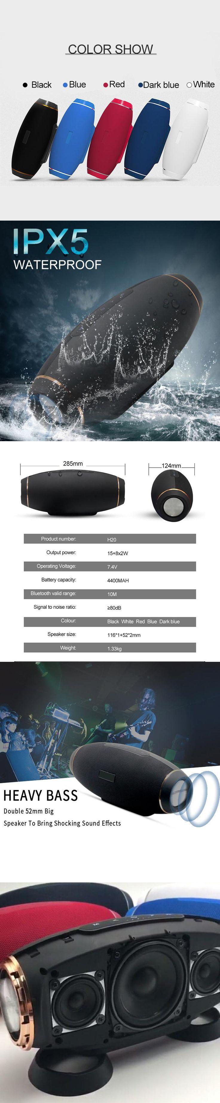 Rugby Portable Splashproof Wireless Bluetooth Speaker Waterproof Outdoor HIFI Bass Subwoofer LoudSpeaker TF AUX Stereo Charge 3