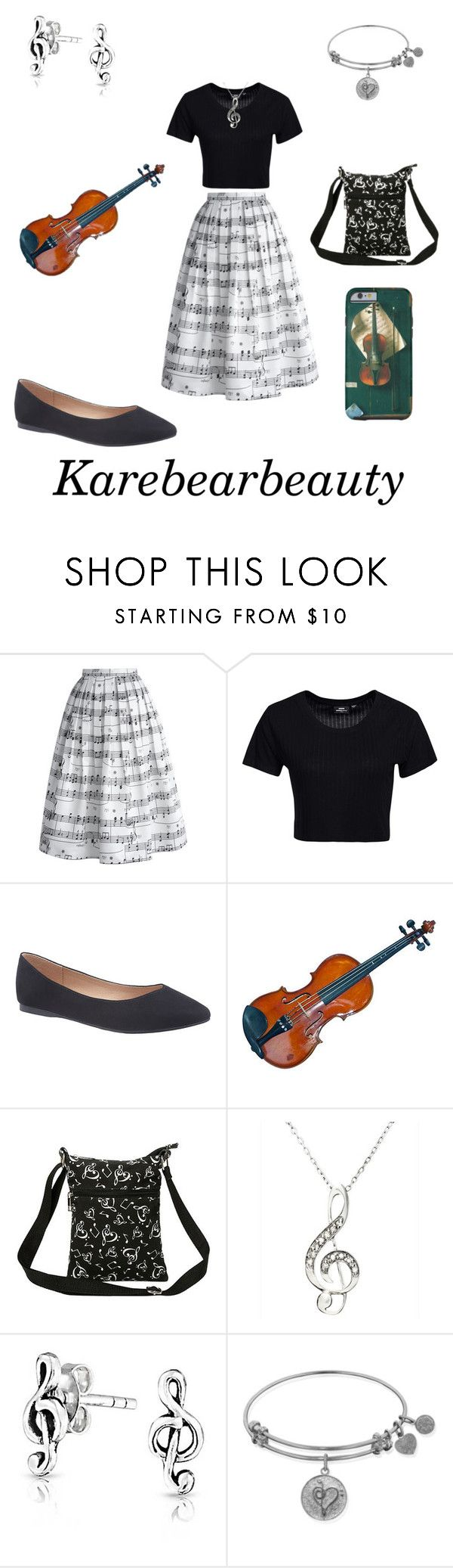 """""""Violin Recital"""" by karebearbeauty ❤ liked on Polyvore featuring Chicwish, Dr. Denim, Lane Bryant and Bling Jewelry"""