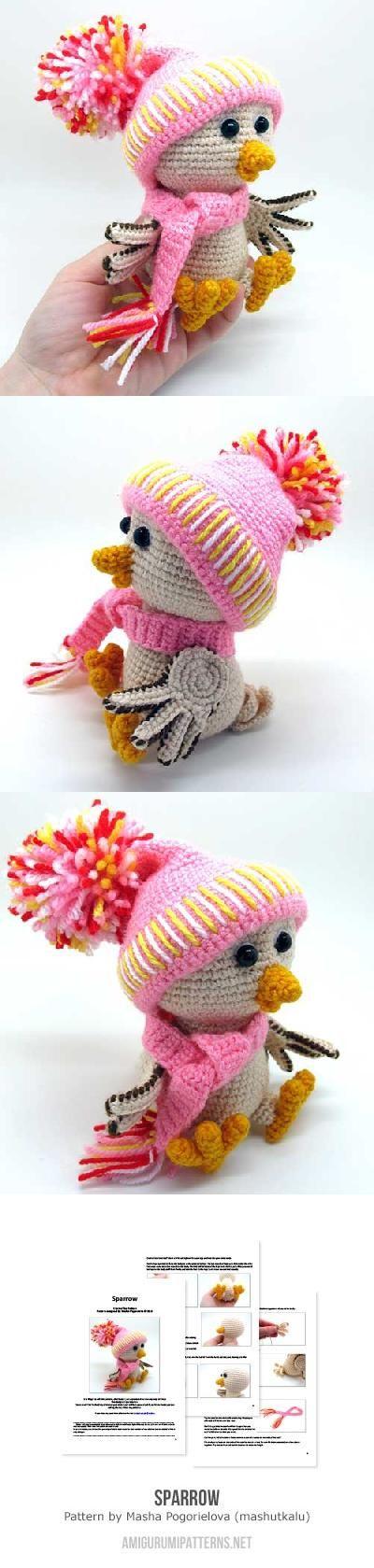 Amigurumi Tutorial Masha : Sparrow amigurumi pattern by Masha Pogorielova (mashutkalu ...