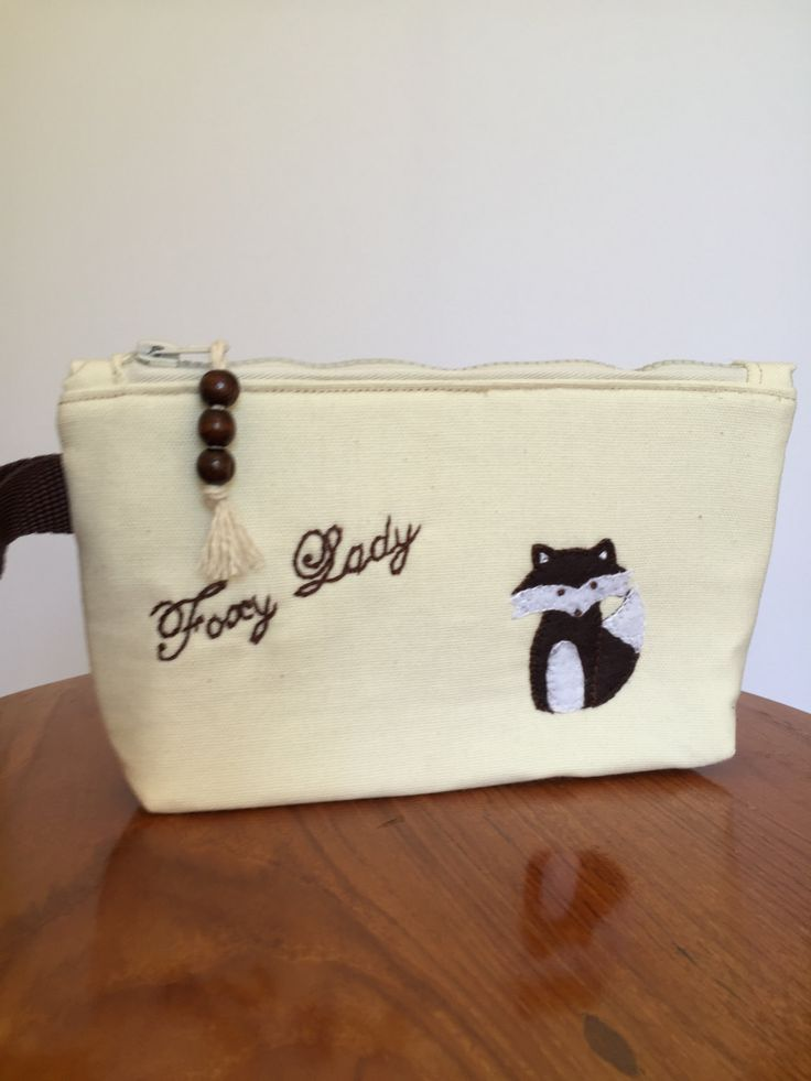 Foxy Lady Cosmetic Pouch by EverSewNice on Etsy