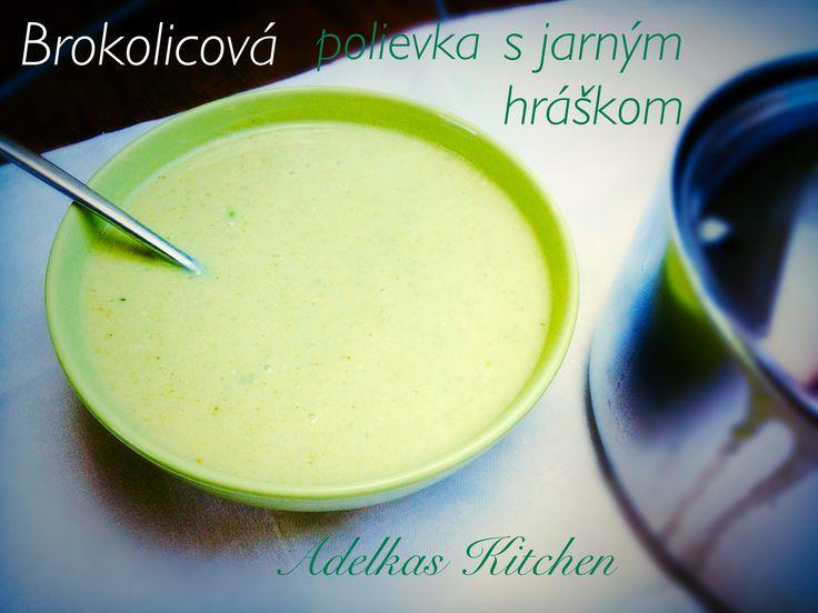 Brokolicová polievka s jarným hráškom