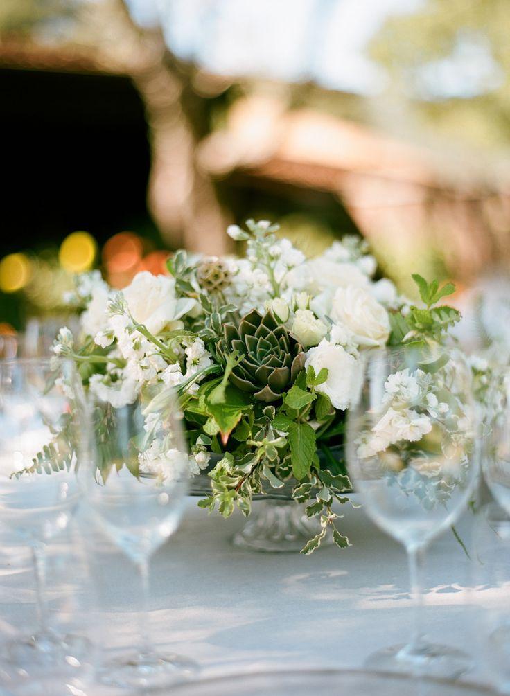 #centerpiece  Photography: Silvana Difranco - silvanadifranco.com  Read More: http://www.stylemepretty.com/2014/02/20/gilroy-california-ranch-wedding/