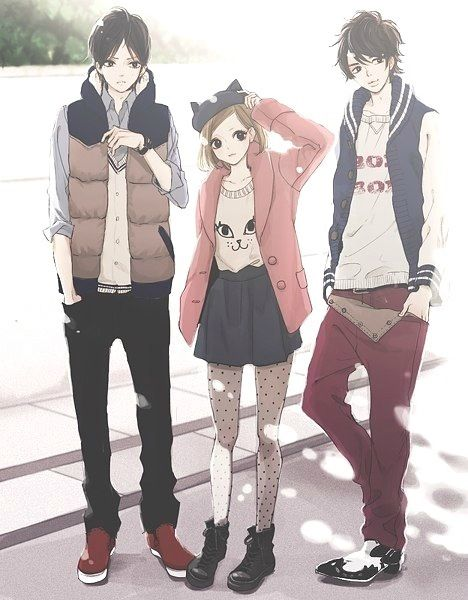impressive outfits anime boy girls